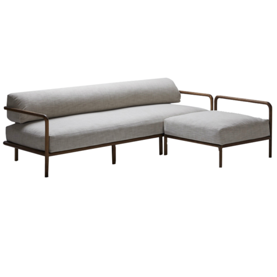 Melike L-Shaped Sofa by Meyer Von Wielligh. Inspired by the stark beauty of the Namibian landscape where Abrie grew up, the Melike sofa is an uncomplicated design imbued with a simplicity in both material and detail.