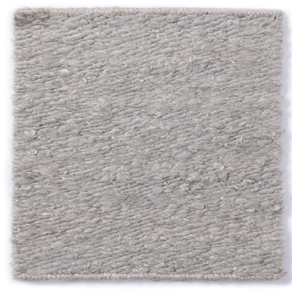 DOVE GREY MOHAIR RUG