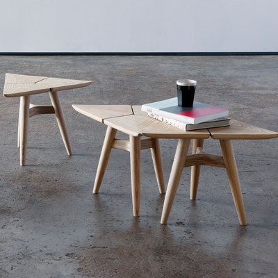 Moove Table by Vogel Design. A unique and extremely versatile and can be used in a multitude of configurations. Can be purchased as a single table, set of four or set of six.