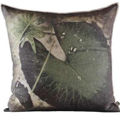 MOPIPI GREEN PRINTED THROW PILLOW