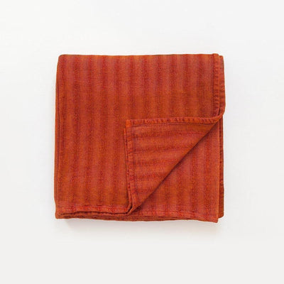 MUNGO USA NEW YORK NAMIB ORANGE CHENILLE HERRINGBONE THROW