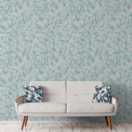 Splatter – Sage on Grey