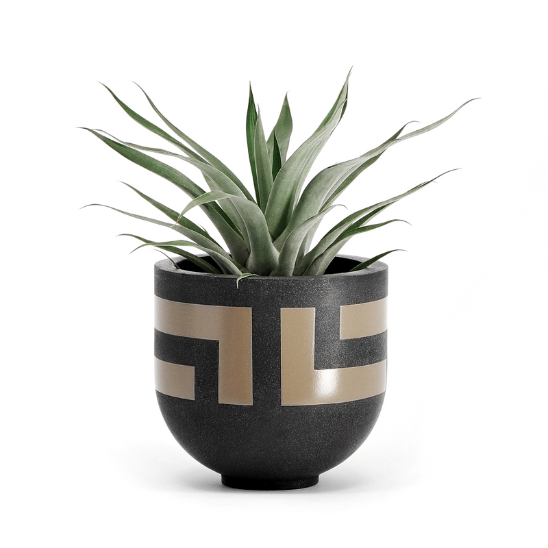 OASIS PLANTER BRONZE by Gold Bottom Pots at SARZA. bronze, decor, Gold Bottom, Gold Bottom Pots, homeware, Oasis, planters