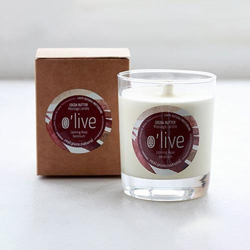 BODY BUTTER MASSAGE CANDLE by O'live at SARZA. body & wellness, body butter massage candle, body products, butters, candles, essentail oils, gifting, lemongrass, massage candles, neroli, Olive, Rose, soaps and candles