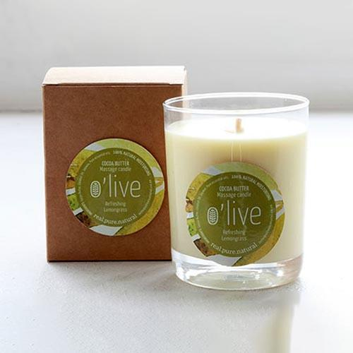 BODY BUTTER MASSAGE CANDLE by O'live at SARZA. body & wellness, body butter massage candle, body products, butters, candles, essentail oils, gifting, massage candles, Olive, soaps and candles