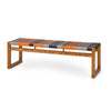 Cube Bench-4 seater by Vogel Design. A solid wood bench with customizable color and weave options and different timber & stain options for your specific style and color scheme.