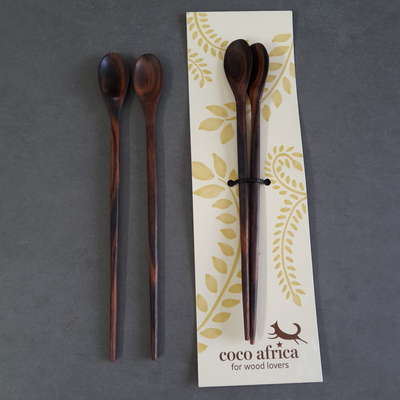 PESTO SPOON SET by Coco Africa at SARZA. Coco Africa, pesto, serveware, spoon, spoon set, SPOONS, tableware, wooden, WOODEN SPOONS