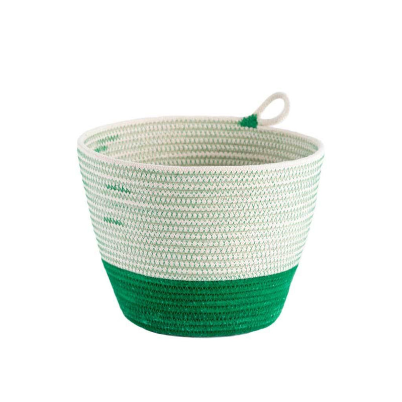 PLANTER BASKET GREENERY BY MIA MELANGE. Add some greenery to your home with these unique planters. Available in three sizes. Made from 100% cotton rope which is sewn together in a coiling technique.
