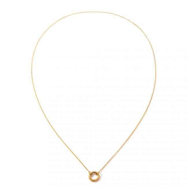 REFINED80 LIFESAVER NECKLACE - JEWELRY BY KIRSTEN GOSS. A long, delicate chain with the signature 'lifesaver' clasp. Beautifully handmade in 18kt gold vermeil.