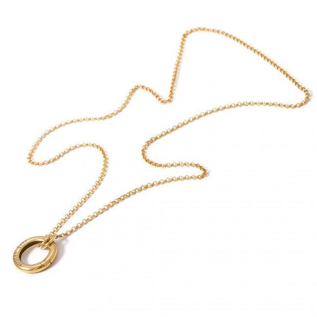 REFINED45 LIFESAVER NECKLACE BY KIRSTEN GOSS JEWELRY. A short, delicate chain on a 'lifesaver' clasp which allows for the addition of pendants of your choice. Beautifully handmade in 18kt gold vermeil.