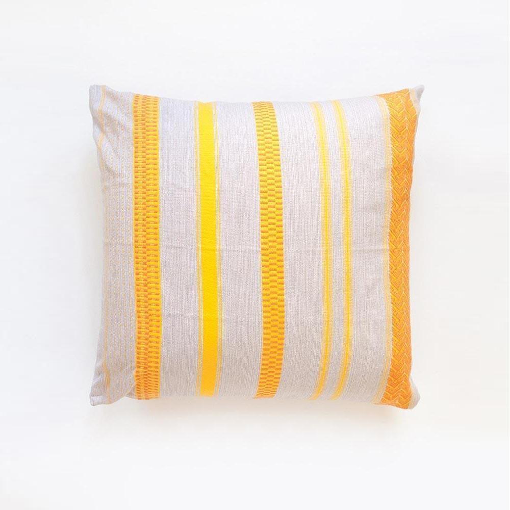 ROLLED SAND MALI THROW PILLOW by Mungo at SARZA. cushion cover, homeware, Mali, MU-TP-MAL-ROL-SAN, mungo, scatter cushion, throw pillow, throw pillows