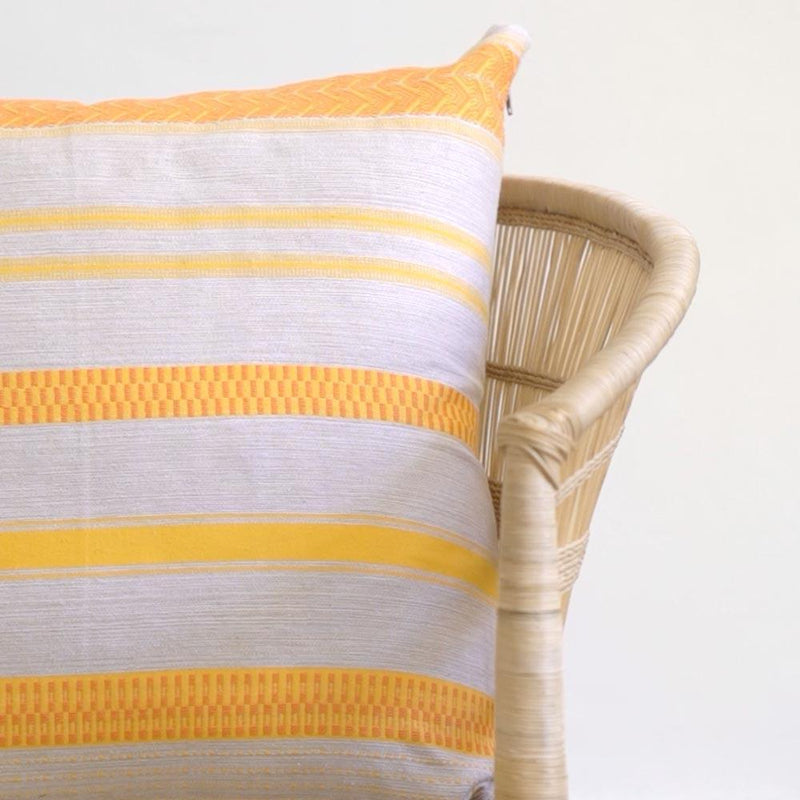ROLLED SAND MALI THROW PILLOW
