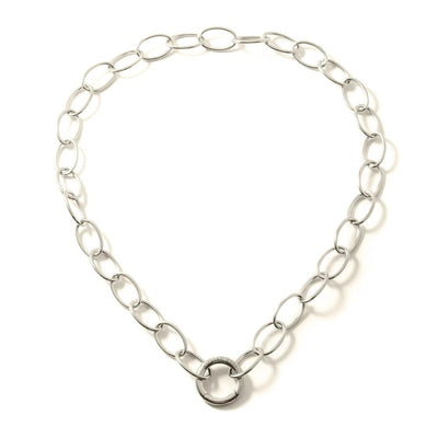 ROUNDEYE45 LIFESAVER NECKLACE - JEWELRY BY KIRSTEN GOSS. A classic oval link chain with signature 'lifesaver' clasp which allows for the addition of pendants of your choice to be clipped on and off. Beautifully handmade in Sterling Silver