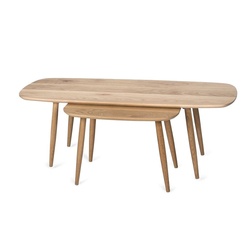 SURFBOARD NESTED TABLE by Saks Corner at SARZA. Furniture, Nested, Nesting Tables, Saks Corner, Surfboard Nested Tables, Tables