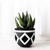 SHIELD PLANTER CHARCOAL by Gold Bottom Pots at SARZA. charcoal, decor, Gold Bottom, grey, homeware, planter, planters, Shield, stone