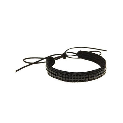 SIDAI DESIGNS USA NEW YORK NARROW LEATHER STRIPE CHOKER