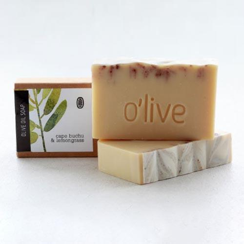 BODY SOAP - CAPE BUCHU AND LEMONGRASS by O'live at SARZA. bar, body & wellness, body products, Cape Buchu and lemongrass, Olive, soaps, soaps and candles