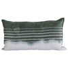 EVOLUTION PRODUCT USA NEW YORK EMBROIDERED STRIPE STONE ON STONE THROW PILLOW, DIPPED GREEN
