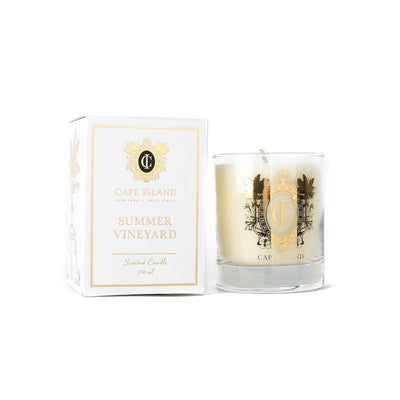 SUMMER VINEYARD CANDLE MEDIUM by Cape Island at SARZA. candles, Cape Island, Classic candles, decor, homeware, Soy candles, Summer Vineyard