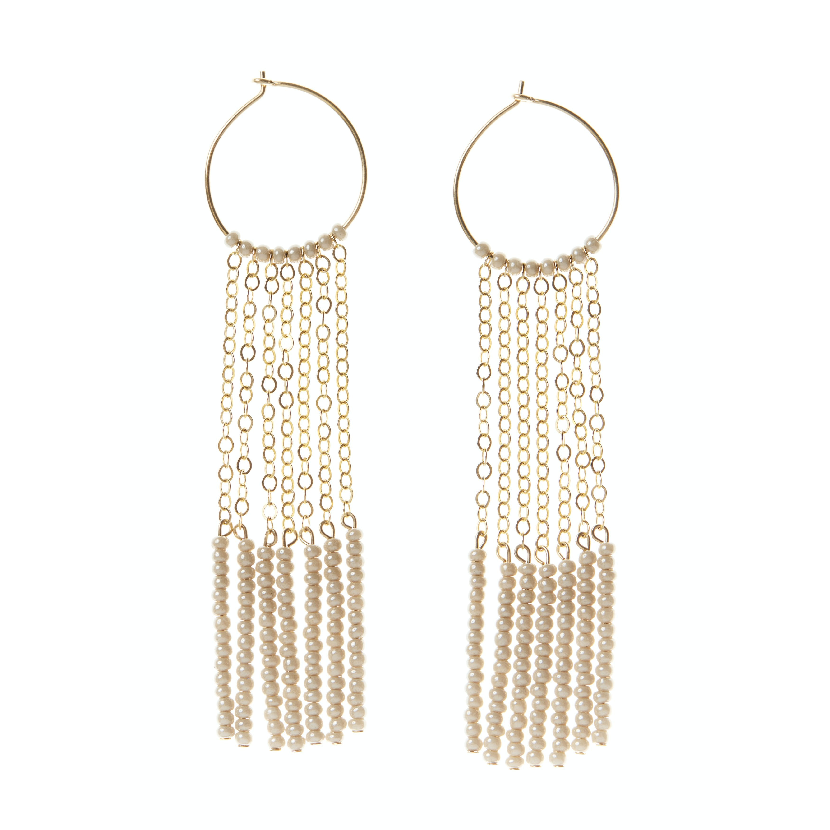 7 TASSEL XS HOOP EARRINGS by Sidai Designs at SARZA. 7 tassel XS hoop earrings, hoop earrings, jewellery, jewelry, Kisongo Collection, Sidai Designs