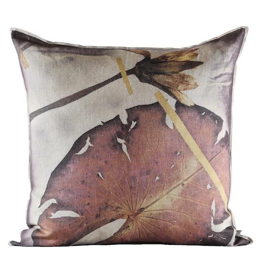 THAMALAKANE RUST PRINTED THROW PILLOW
