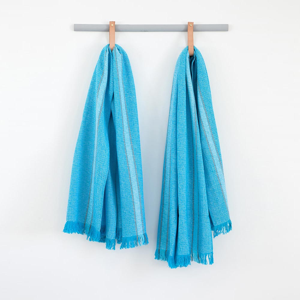 TURQUOISE SUMMER TOWEL by Mungo at SARZA. 100% COTTON, beach towels, linens, mungo, summer towels, towels