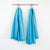 TURQUOISE SUMMER TOWEL by Mungo Design. A versatile bath, pool or beach towel that is half as bulky as a standard terry towel, yet equally absorbent. Its flat weave nature soaks up little to no sand too.