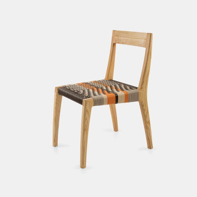The Twig chair by Vogel Design is available in different timbers & finishes. The woven base is customizable in different weaves and colours to compliment your specific interior.