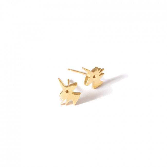 MINI UNICORN EARRINGS - JEWELRY BY KIRSTEN GOSS. These magical, cute mini Unicorn studs earrings, made made from 18kt gold vermeil, can to be mixed and matched.