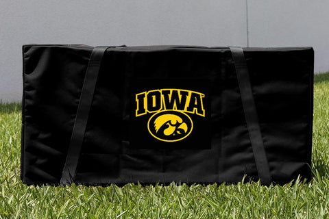 Custom Iowa Hawkeyes Cornhole Boards Carrying Case