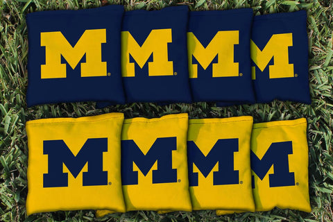 Custom Michigan Wolverines Cornhole Bags