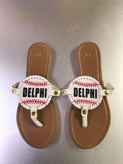Baseball Sandals with Design in Glitter