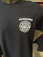 Burrows Fire Department Screen Printed Shirt