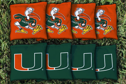 Miami Hurricanes All Weather Cornhole Bags