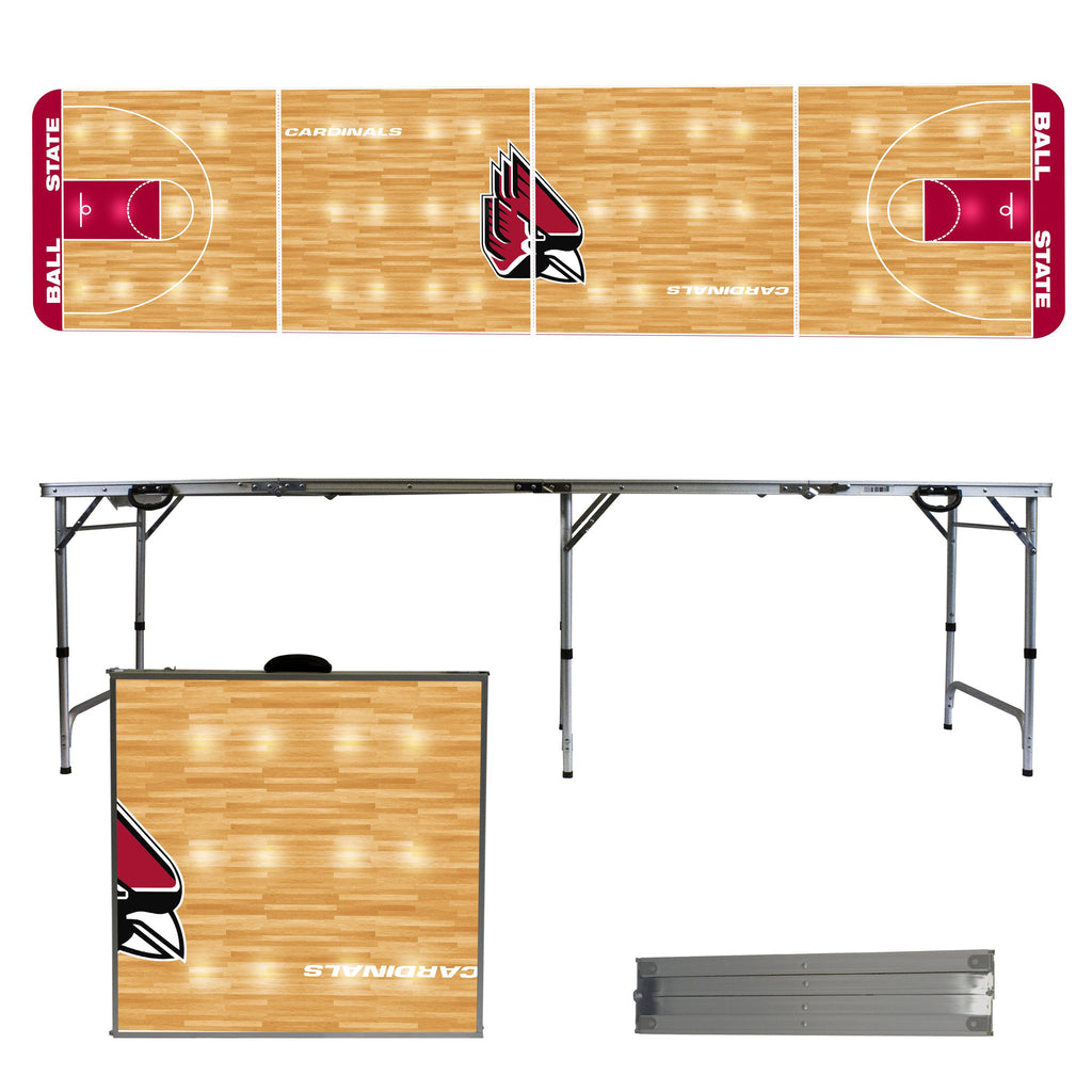 Ball State 2' x 8' Tailgate  Pong Table
