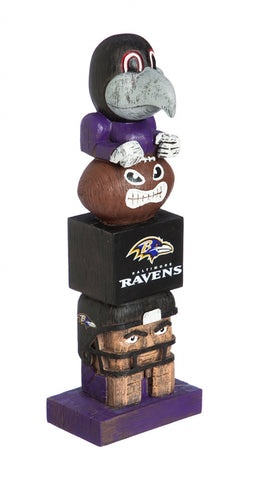 Baltimore Ravens Football Tiki Totem