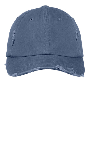Blue Distressed Pigment Dyed  Hat