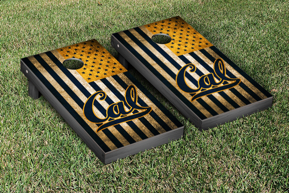 University of California Cornhole Boards, Custom All Weather Cornhole Bags & Carrying Case Package