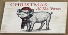 Christmas At The Farm Pig