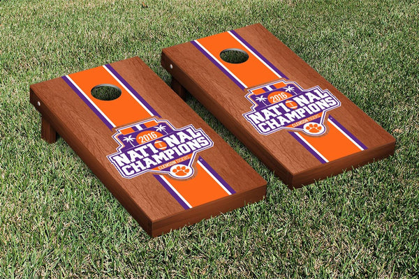Clemson University Cornhole Boards, Custom All Weather Cornhole Bags & Carrying Case Package
