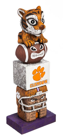 Clemson University NCAA Football Tiki Totem