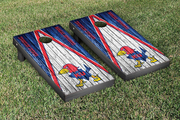 Kansas Cornhole Boards, Custom All Weather Cornhole Bags & Carrying Case Package