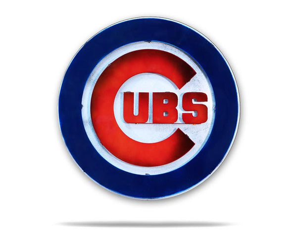 Cubs 3D Vintage Metal Art