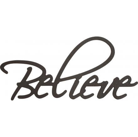 Believe Wooden Wall Word Art
