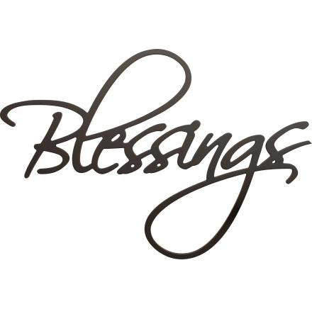 Blessings Wooden Wall Word