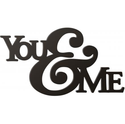 You & Me Wooden Wall Word