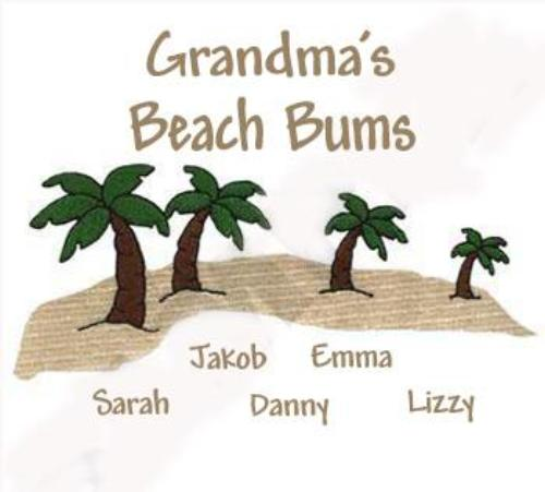 Grandma's Beach Bums Embroidered Shirt