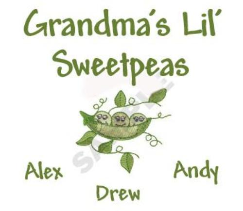 Grandma's Lil Sweetpeas Embroidered Shirt