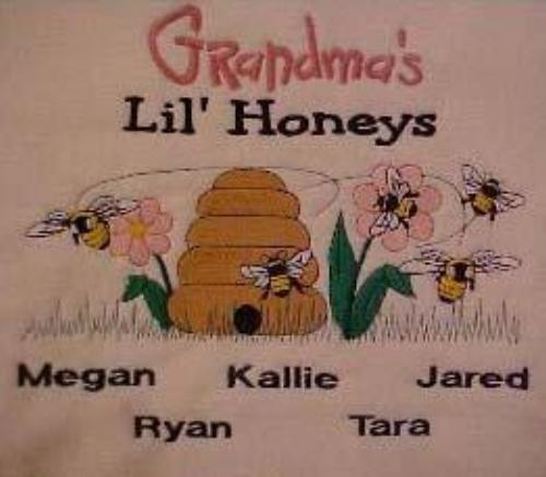 Grandma's Lil Honeys Embroidered Shirt