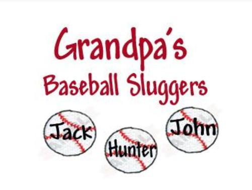 Embroidered Grandpa's Baseball Slugger Shirt